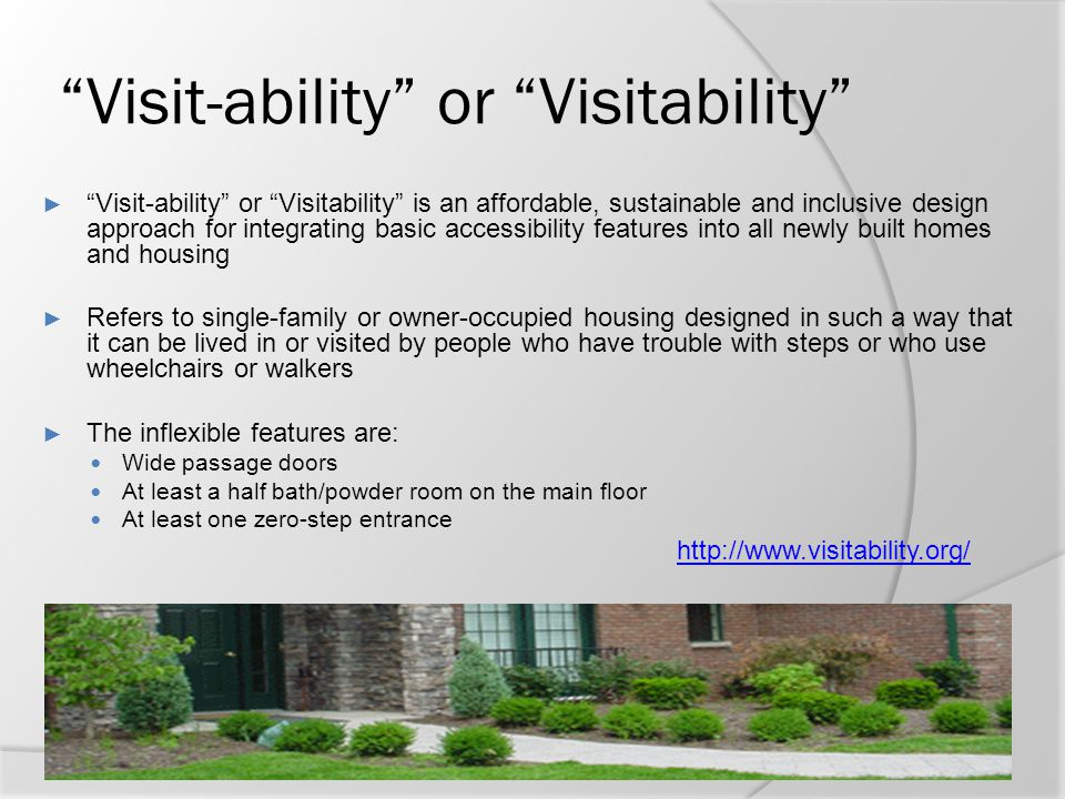 Visit-ability or Visitability