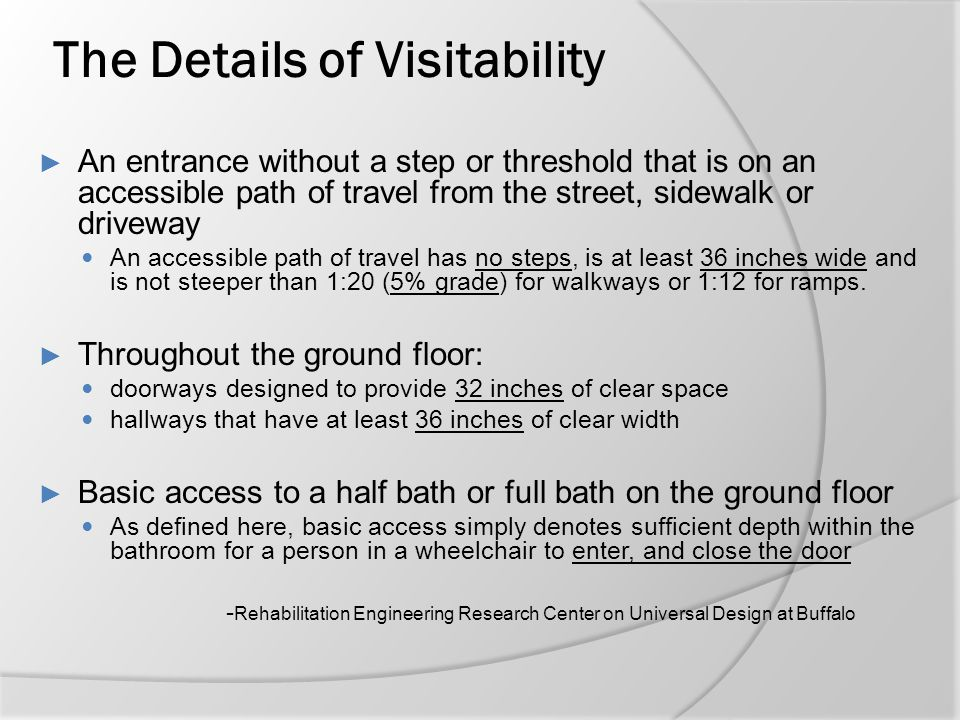 The Details of Visitability