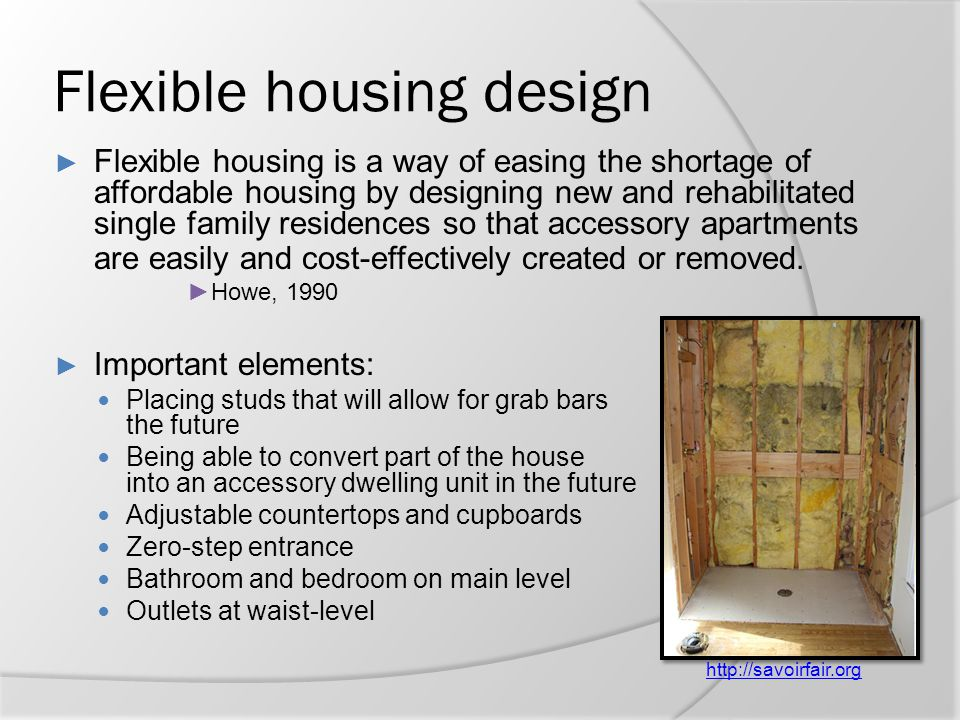 Flexible housing design