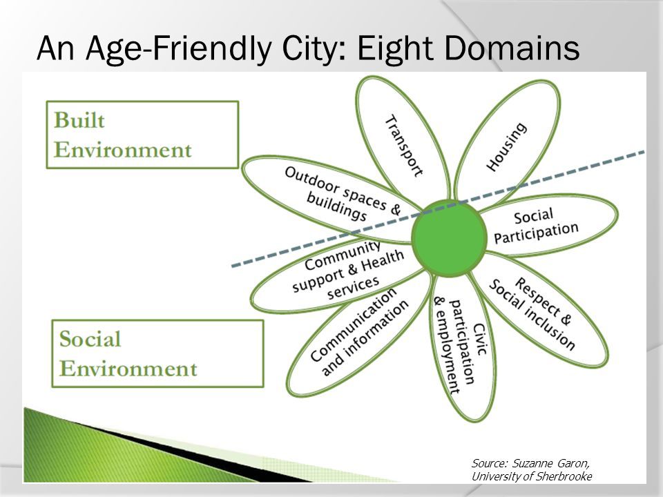 An Age-Friendly City: Eight Domains