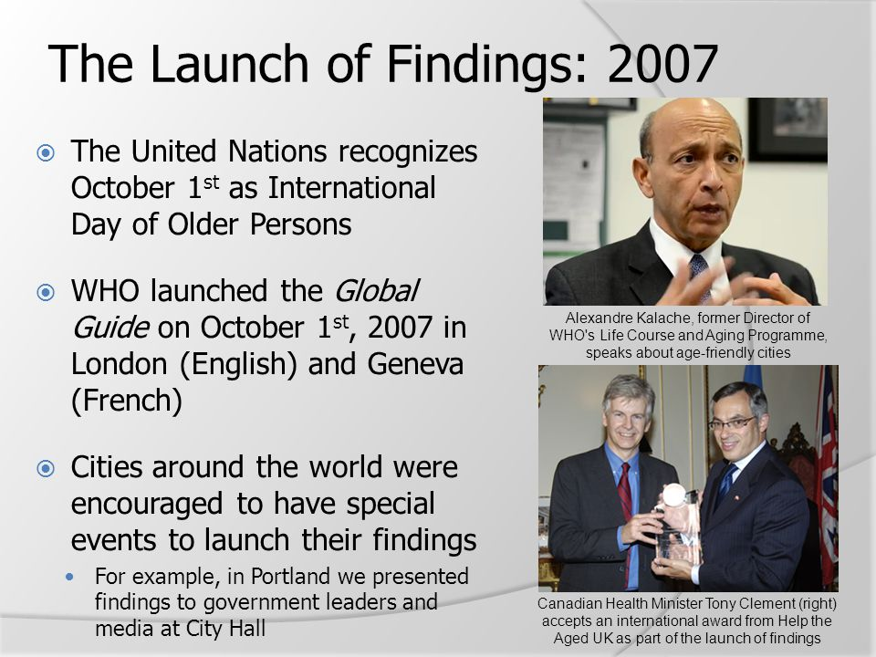 The Launch of Findings: 2007