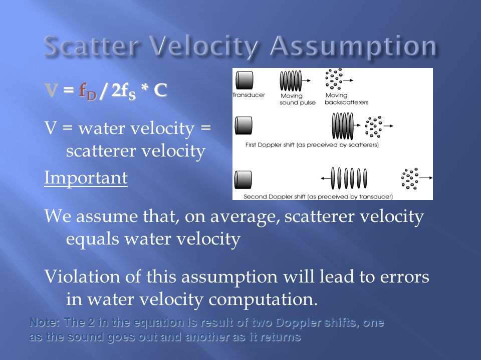 Scatter Velocity Assumption