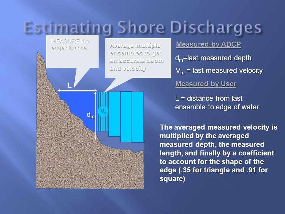 Estimating Shore Discharges