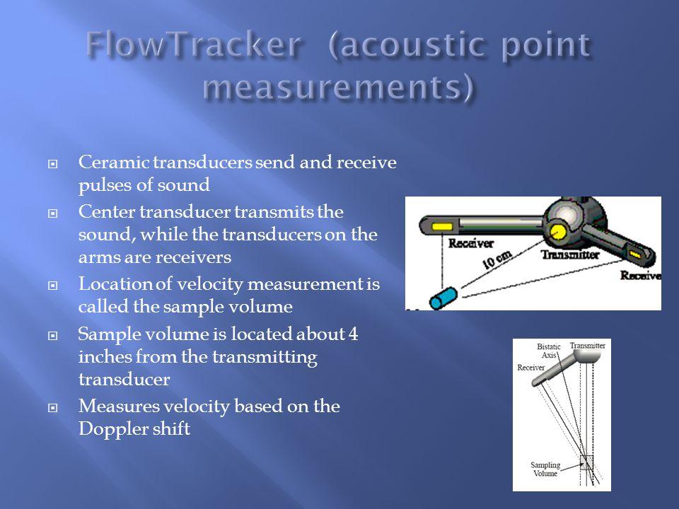 FlowTracker (acoustic point measurements)