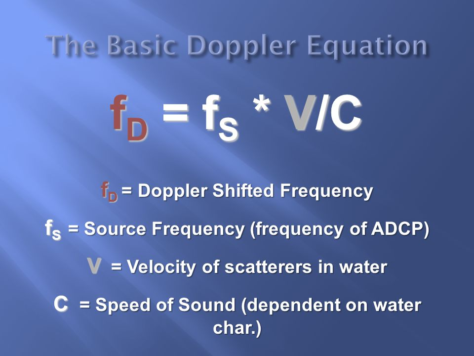 The Basic Doppler Equation