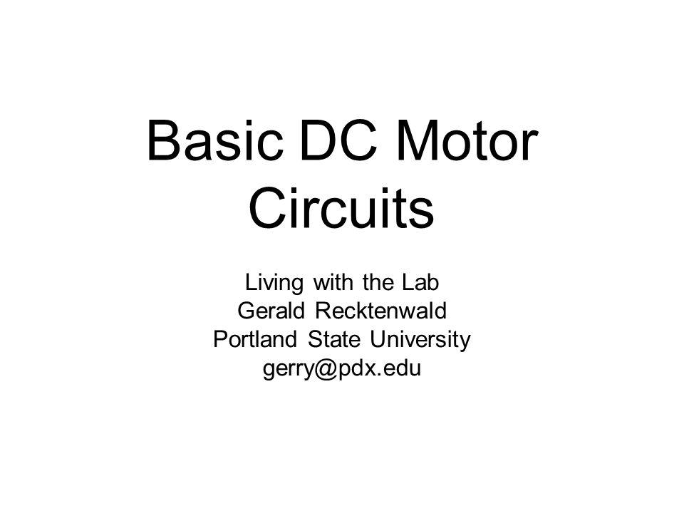 Basic DC Motor Circuits