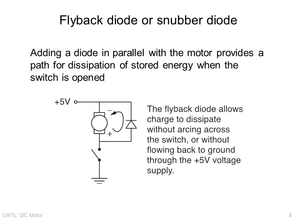 Flyback diode or snubber diode