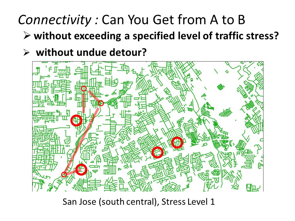 San Jose (south central), Stress Level 1