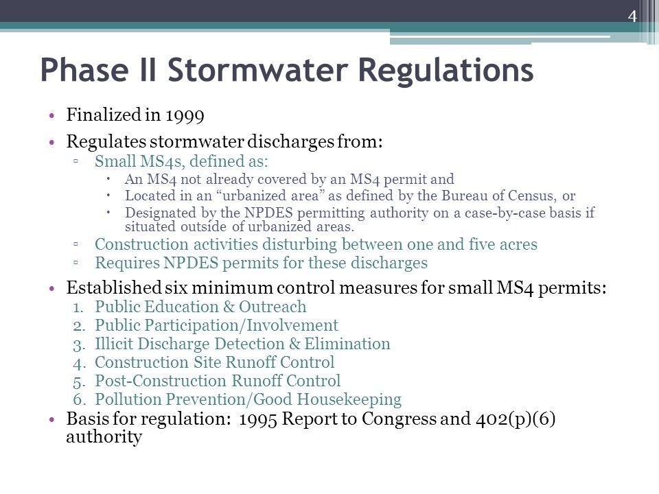 Phase II Stormwater Regulations