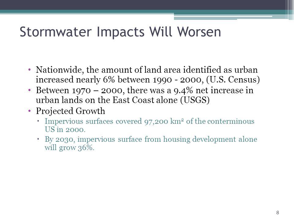 Stormwater Impacts Will Worsen