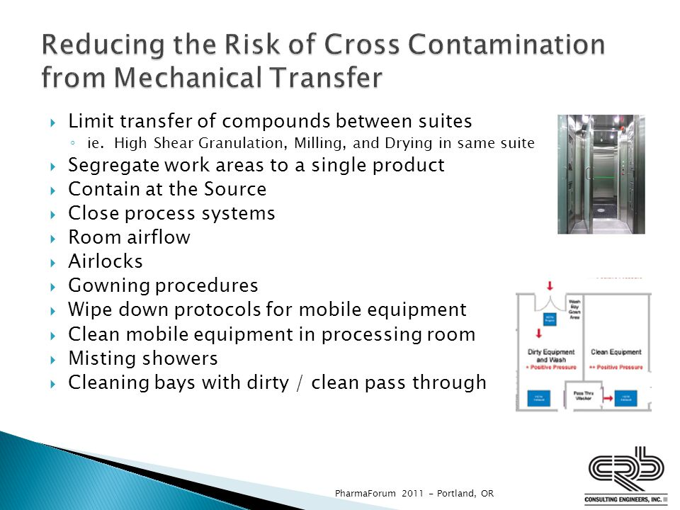 Reducing the Risk of Cross Contamination from Mechanical Transfer