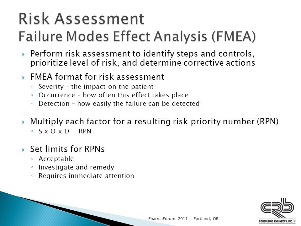 Risk Assessment Failure Modes Effect Analysis (FMEA)