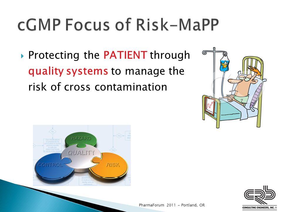 cGMP Focus of Risk-MaPP
