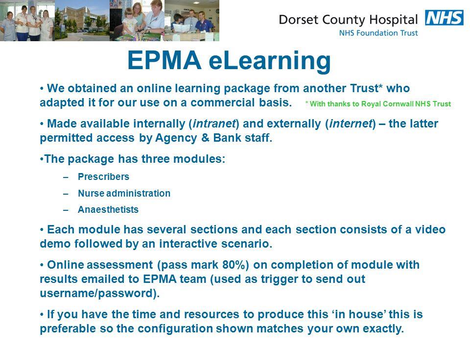 EPMA eLearning