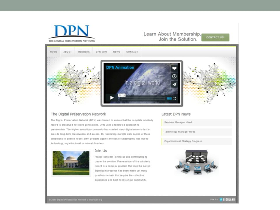 Another project we recently worked on was integration with the Digital Preservation Network.
