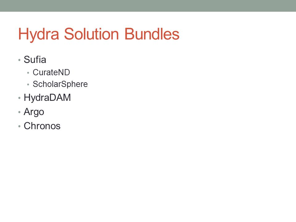Hydra Solution Bundles