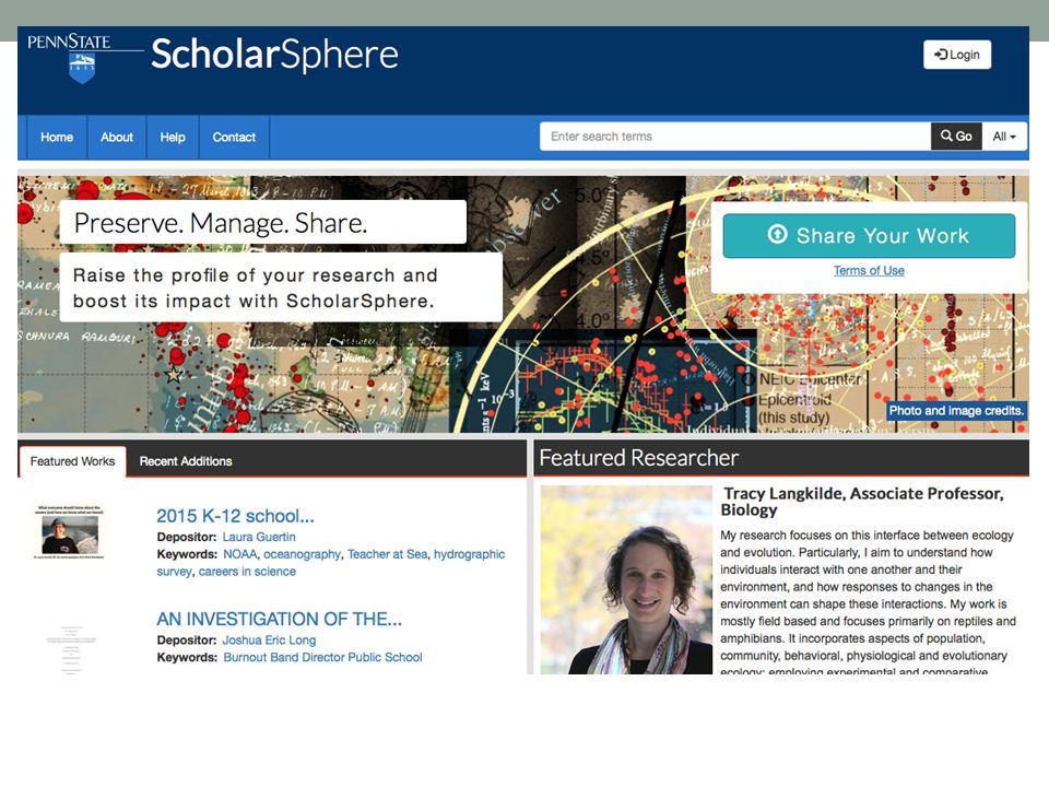 Penn State offers Scholarsphere which is very similar in nature to Curate ND.