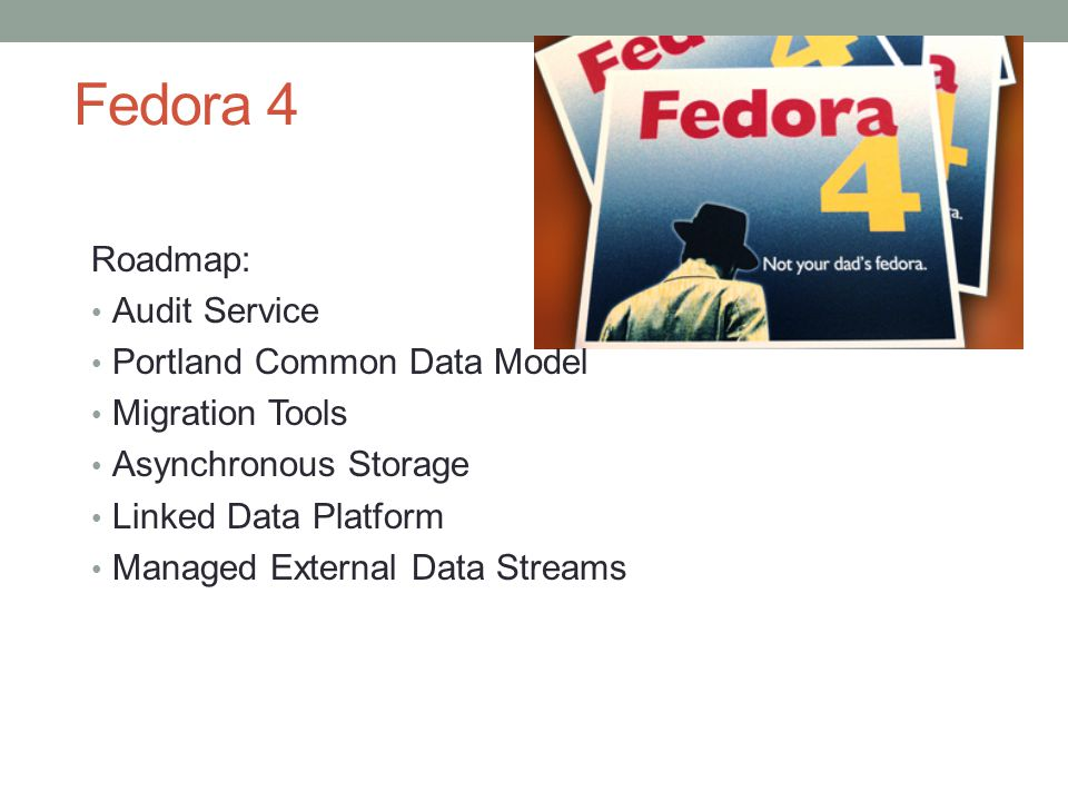 Fedora 4 Roadmap: Audit Service Portland Common Data Model