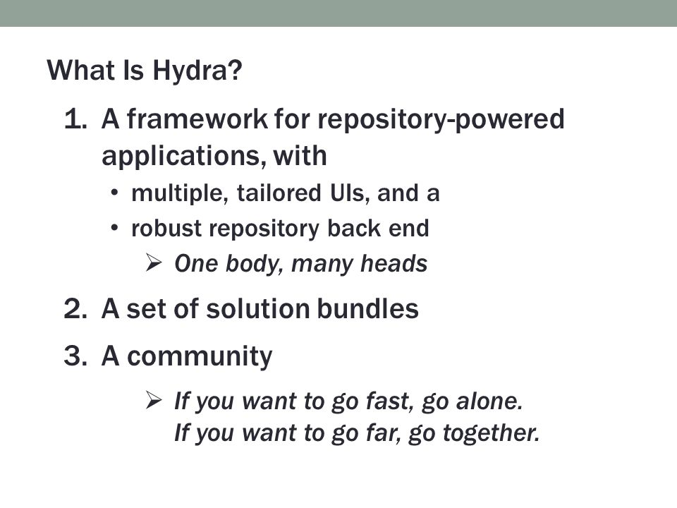 A framework for repository-powered applications, with