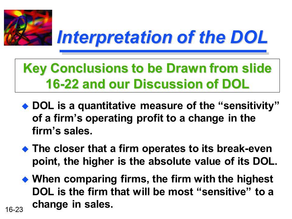 Interpretation of the DOL