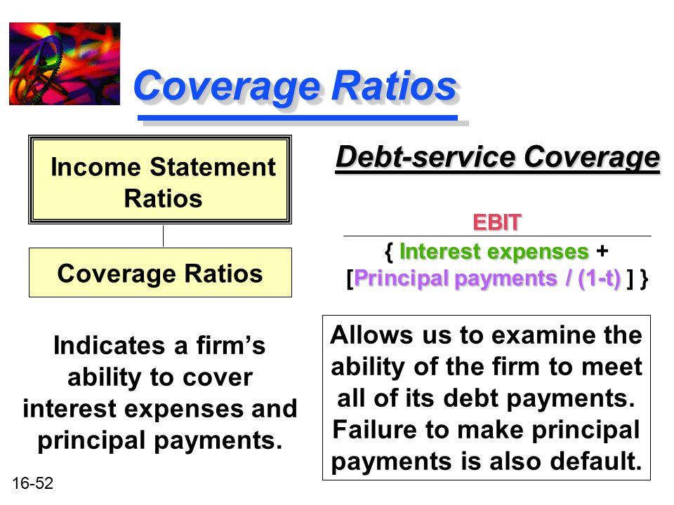 Coverage Ratios Debt-service Coverage Income Statement Ratios