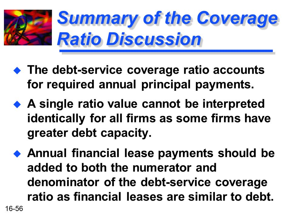 Summary of the Coverage Ratio Discussion