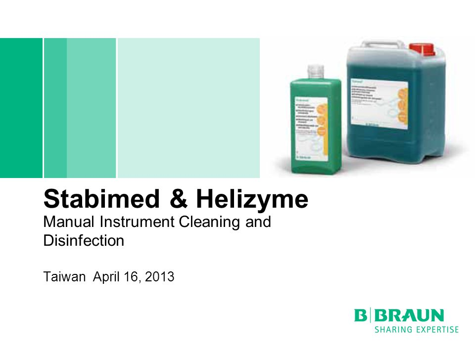 Stabimed & Helizyme Manual Instrument Cleaning and Disinfection Taiwan April 16, 2013