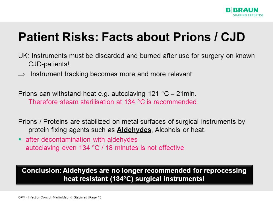 Patient Risks: Facts about Prions / CJD