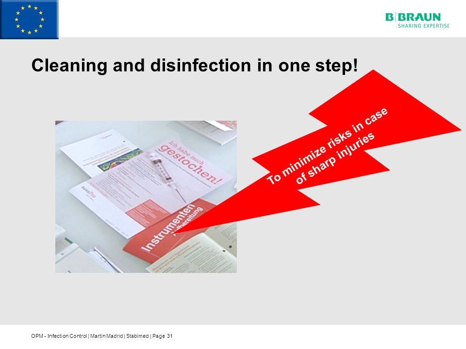 Cleaning and disinfection in one step!