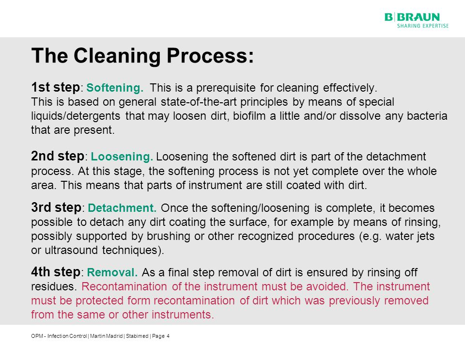 The Cleaning Process: