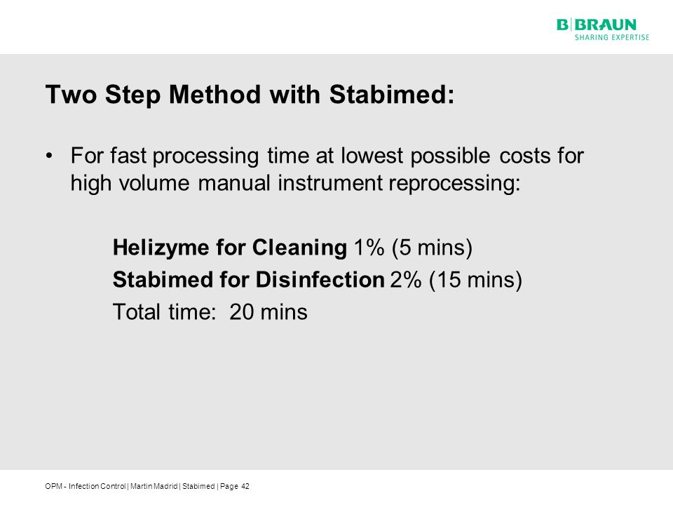 Two Step Method with Stabimed: