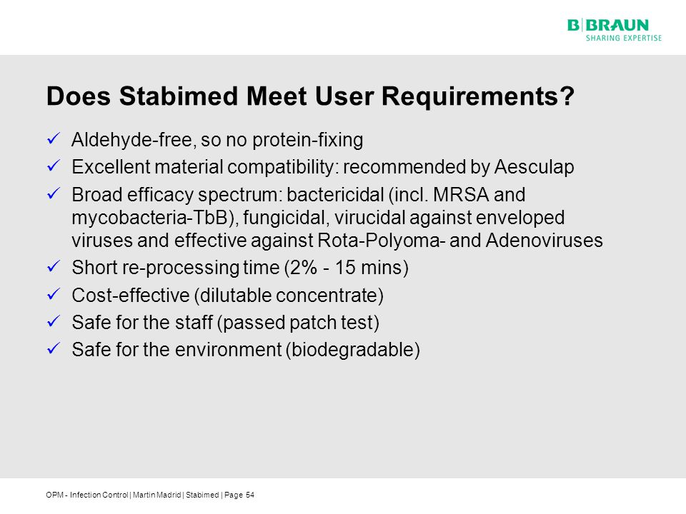 Does Stabimed Meet User Requirements