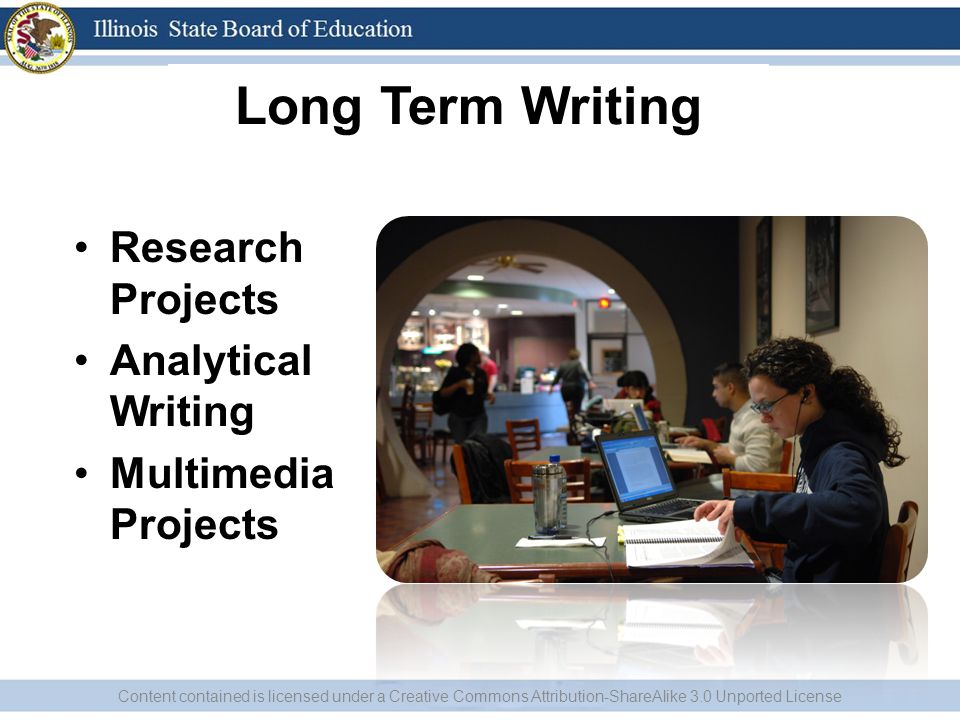 Long Term Writing Research Projects Analytical Writing