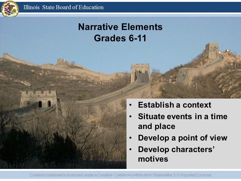 Narrative Elements Grades 6-11