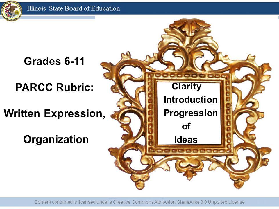 Grades 6-11 PARCC Rubric: Written Expression, Organization