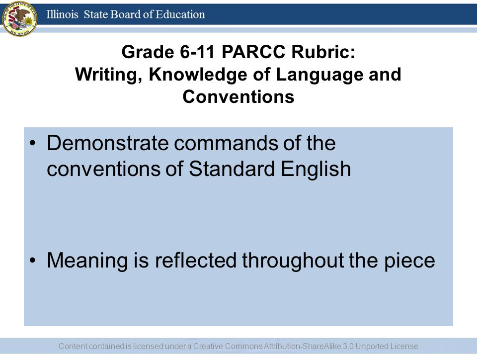 Demonstrate commands of the conventions of Standard English