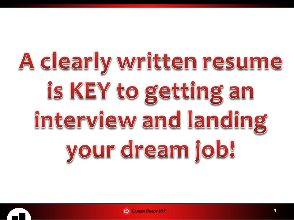 A clearly written resume is KEY to getting an interview and landing your dream job!