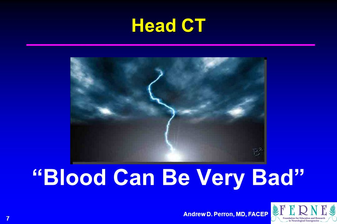 Head CT Blood Can Be Very Bad