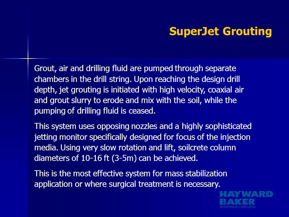 SuperJet Grouting