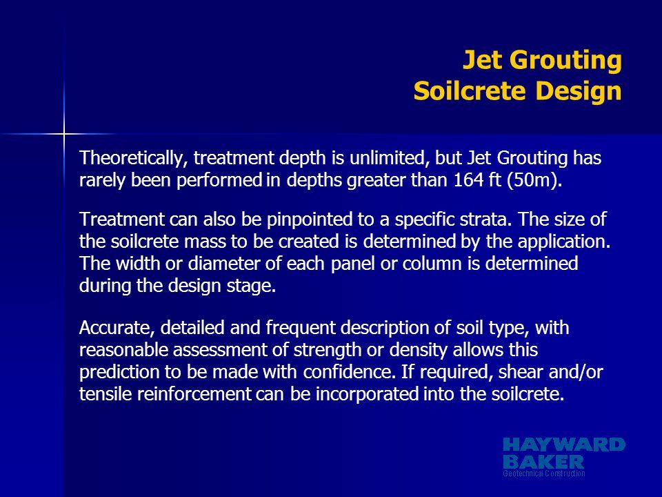 Jet Grouting Soilcrete Design
