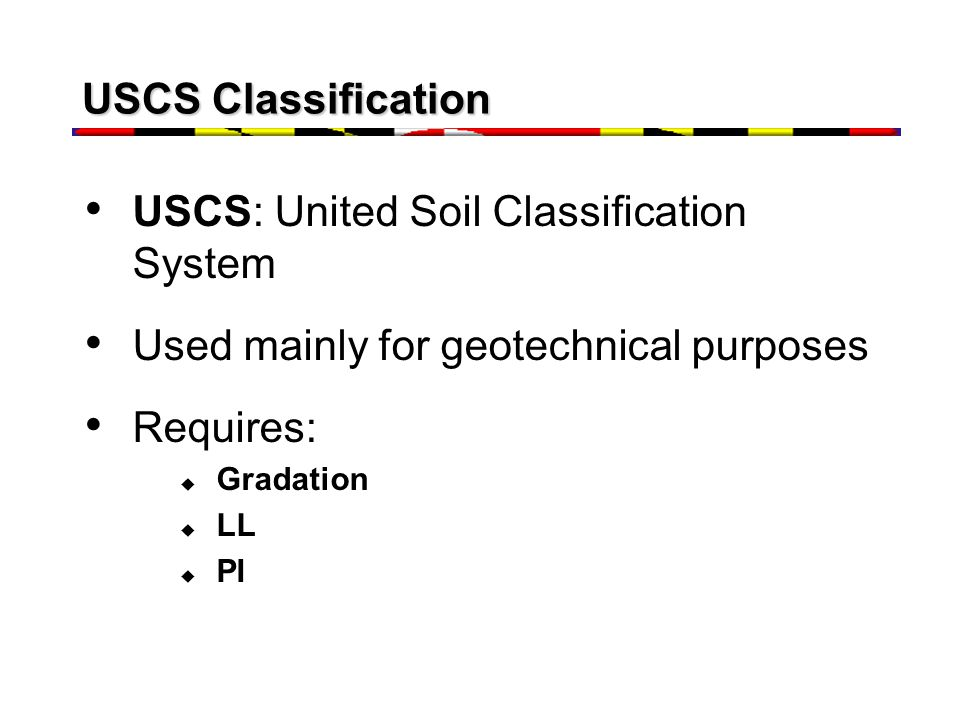 USCS: United Soil Classification System