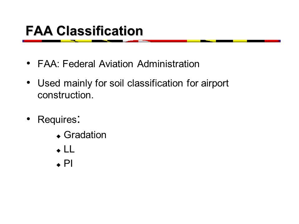 FAA Classification FAA: Federal Aviation Administration