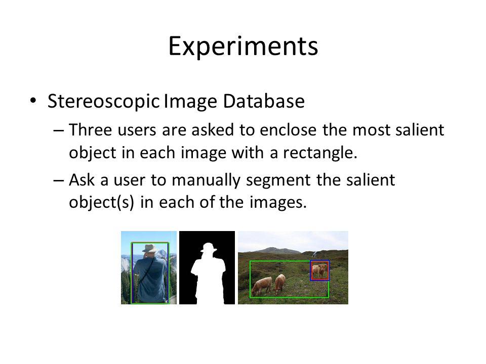 Experiments Stereoscopic Image Database