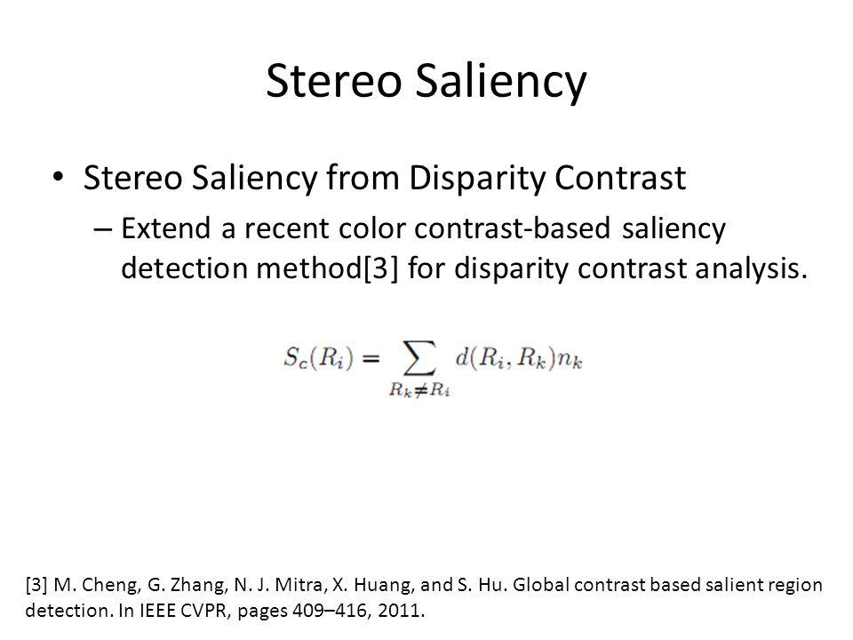 Stereo Saliency Stereo Saliency from Disparity Contrast