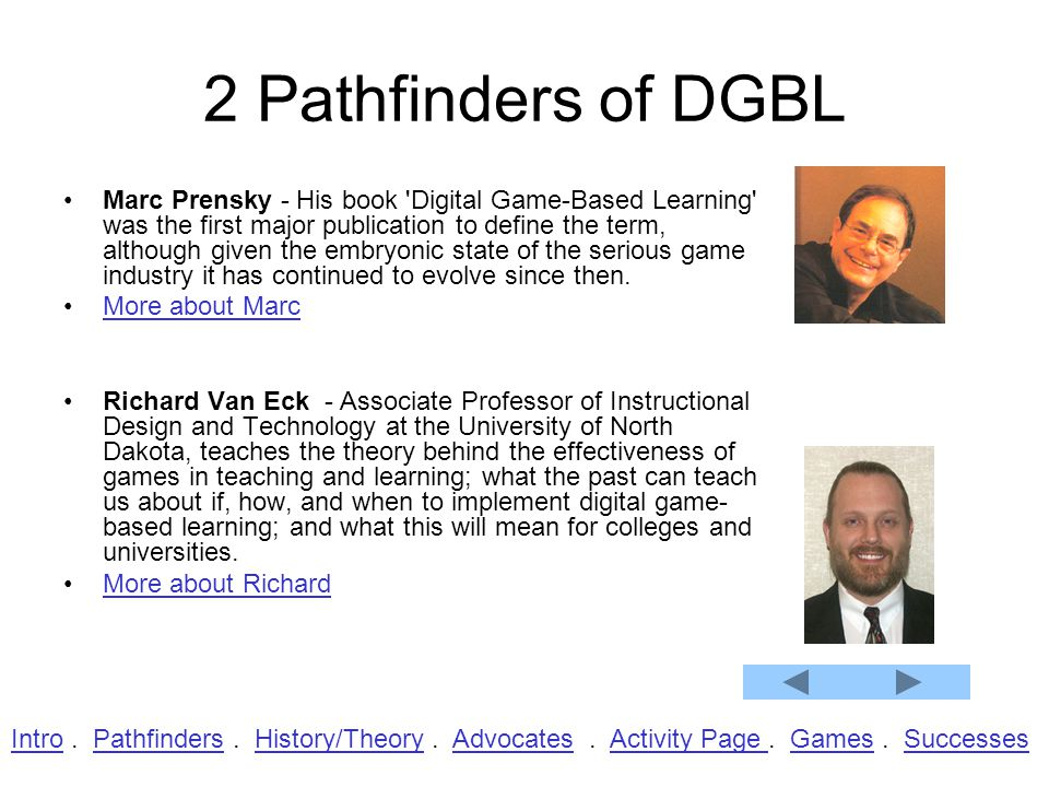 2 Pathfinders of DGBL