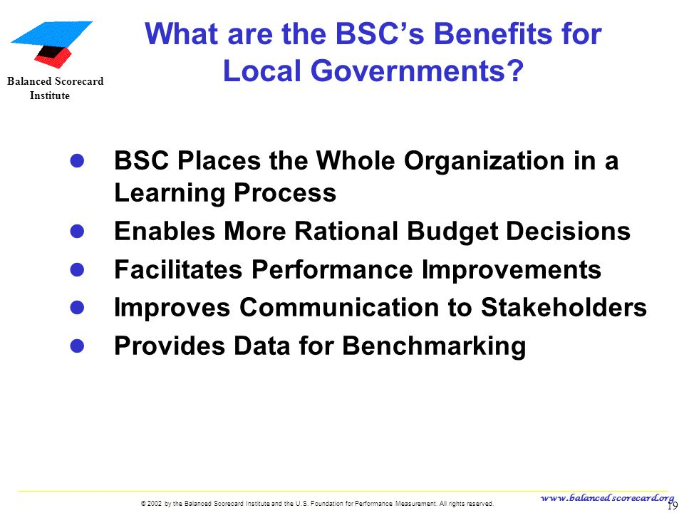 What are the BSC's Benefits for Local Governments