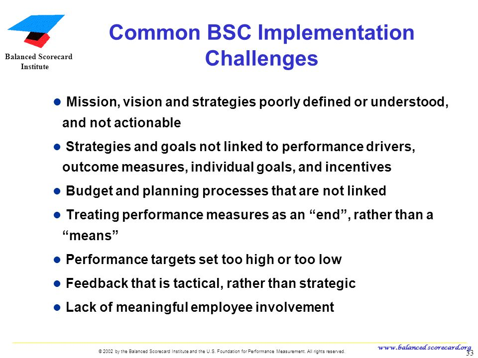 Common BSC Implementation Challenges