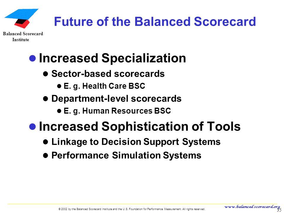 Future of the Balanced Scorecard