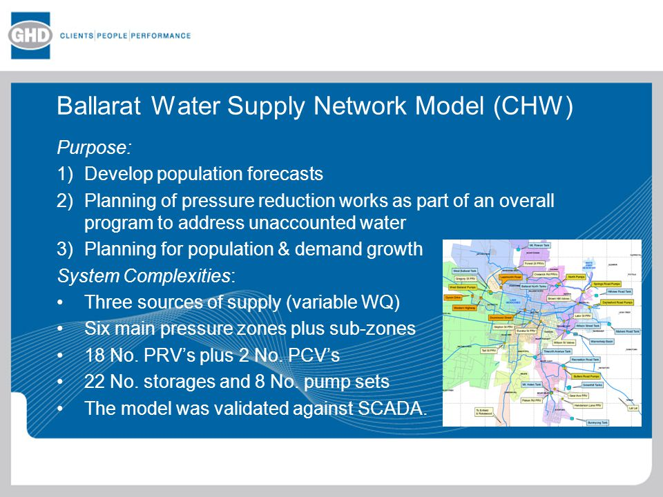 Ballarat Water Supply Network Model (CHW)