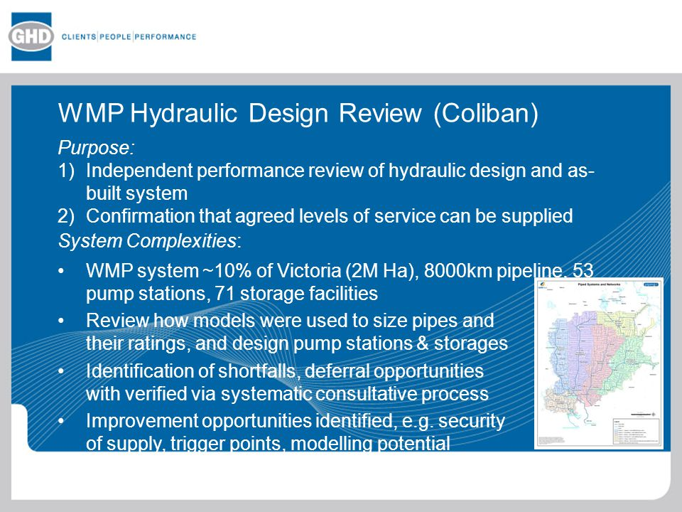 WMP Hydraulic Design Review (Coliban)